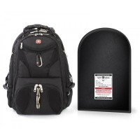 "Swissgear Scansmart Backpack + Level IIIA 12 X 16"" Bulletproof Insert Package"