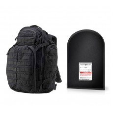 "5.11 Tactical RUSH 72® with 12 x 18"" Level IIIA Ballistic Shield (Black)"