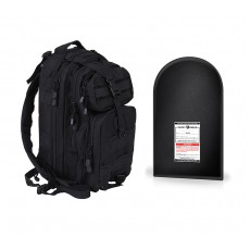 "Medium Transport Pack with 9 x 16"" Level IIIA Ballistic Shield (Black)"